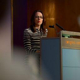 Vicki Thomson delivering the Keynote Address at the EduData Summit 2017.